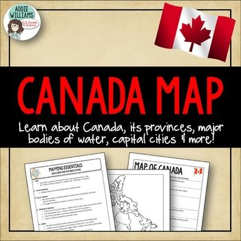 Map Of Canada For Elementary Students.Canada Map Assignment Free Classical Conversations Cycle 3