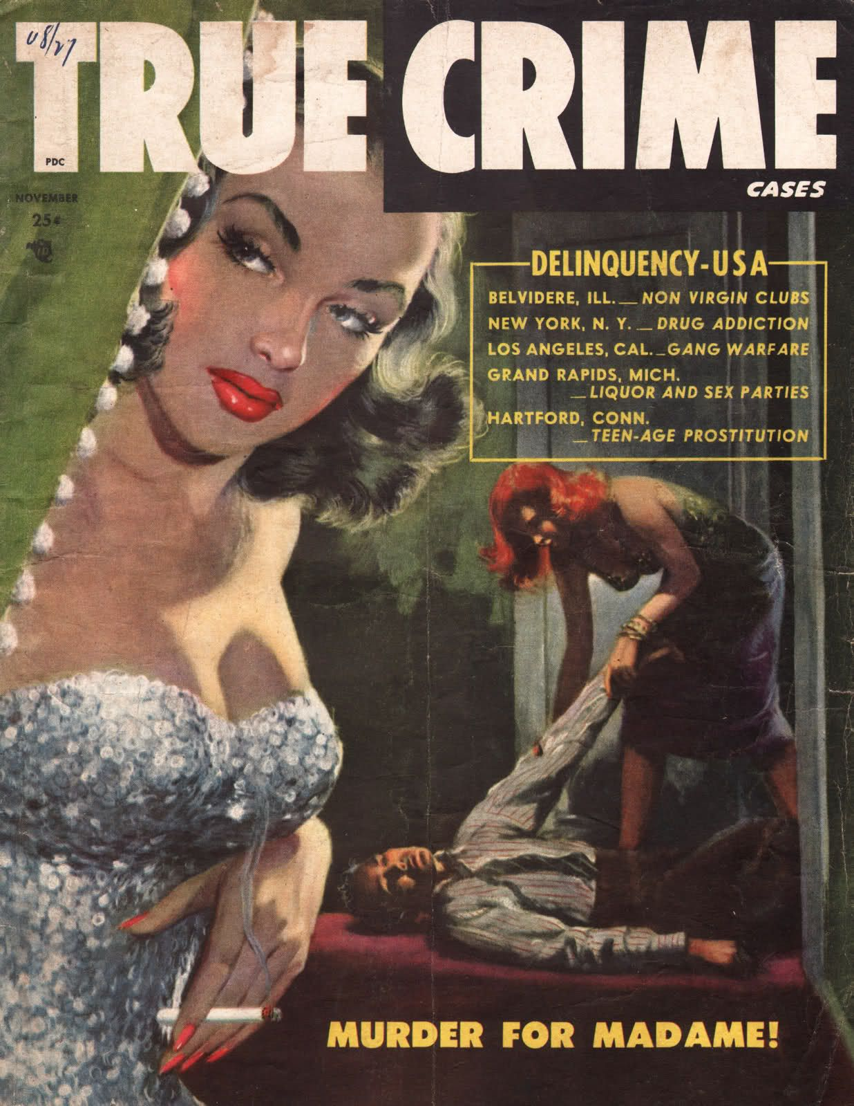 True Crime Cases Magazine Vintage Detective Crime Magazines   Creepy  Basement Criminal Case