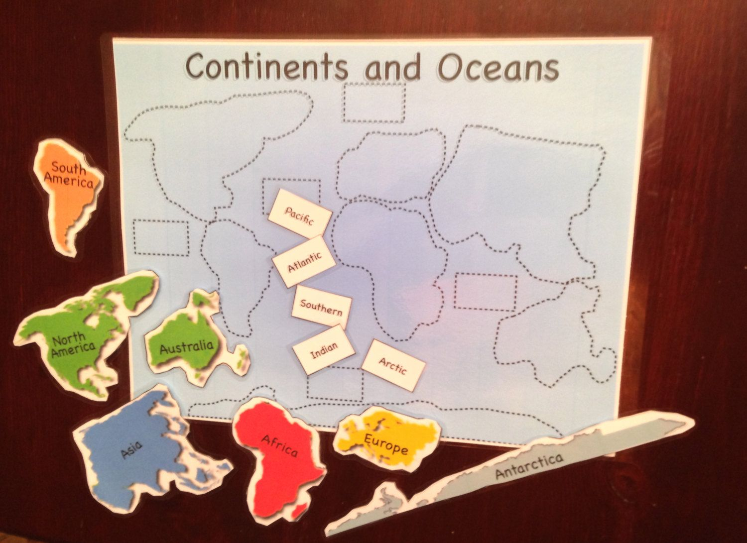 Continents And Oceans Puzzle By Becker Dotcom On Etsy