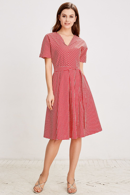 e628d40c587 Платье (с поясом) La Vida Rica D71035 Красный купить в Москве
