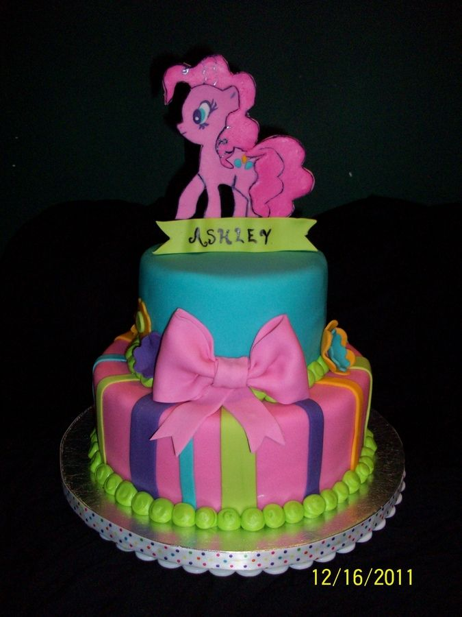 Pinkie Pie My Little Pony Cake Childrens Birthday Cakes cakepins