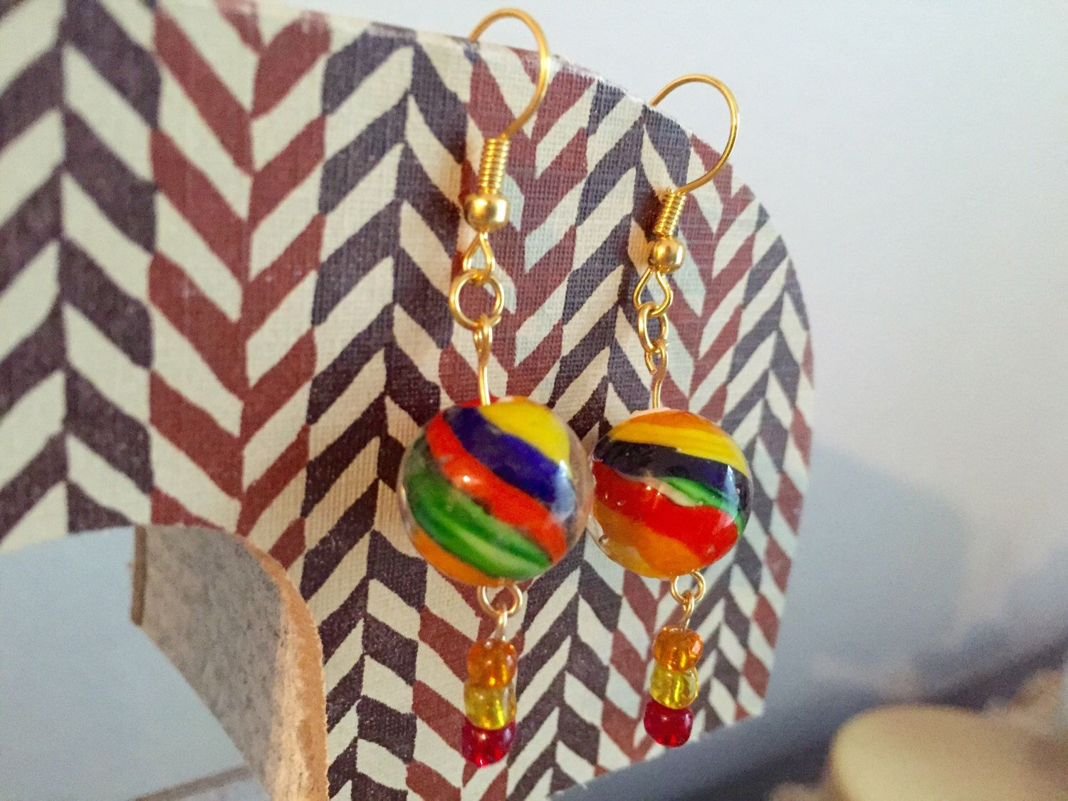 A personal favorite from my Etsy shop https://www.etsy.com/listing/234759718/island-dream-dangle-earrings