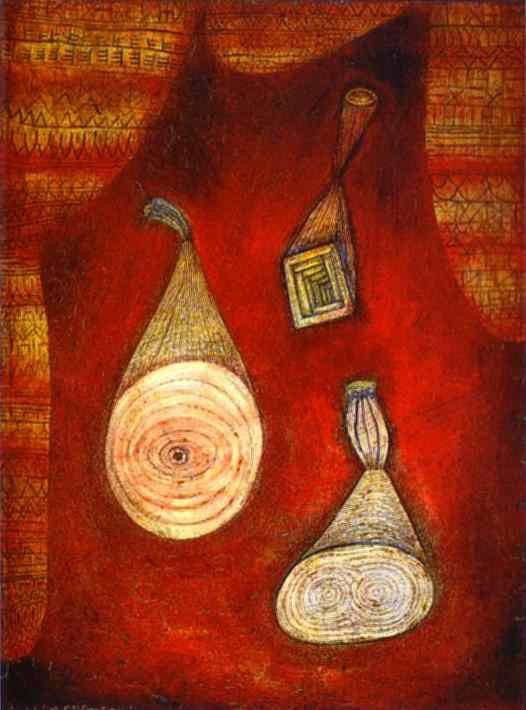 This picture is by the famous German artist, Paul Klee This peice of
