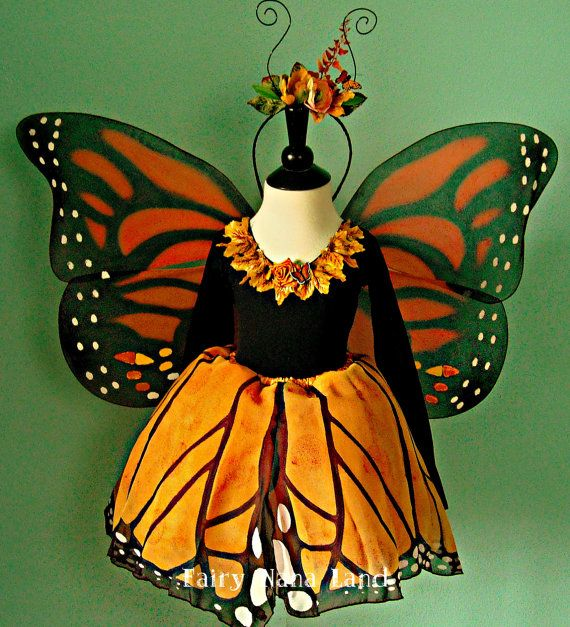 Monarch Butterfly Fairy Costume childu0027s size 6 by FairyNanaLand & Monarch Butterfly Fairy Costume - childu0027s size 6 to 8 | Pinterest ...