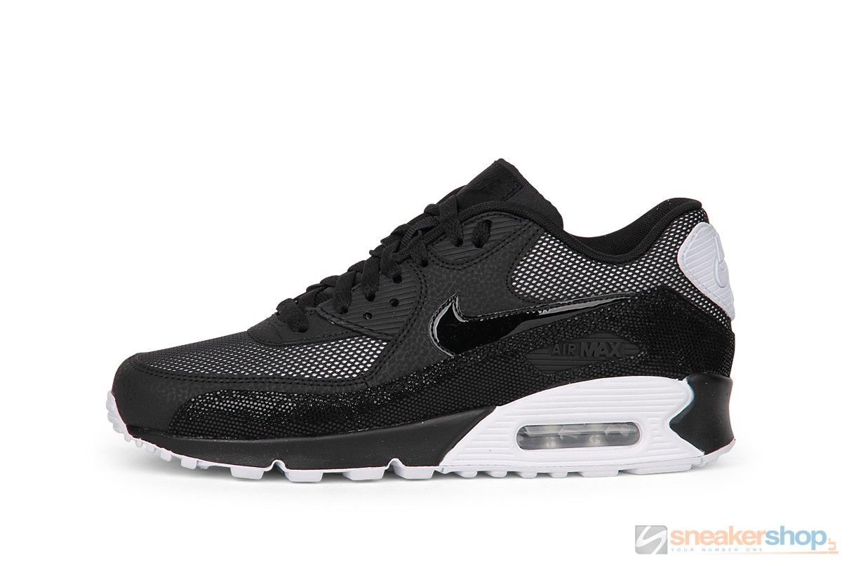 Nike Air Max 90 Wmns Premium (BlackWhite Metallic Silver
