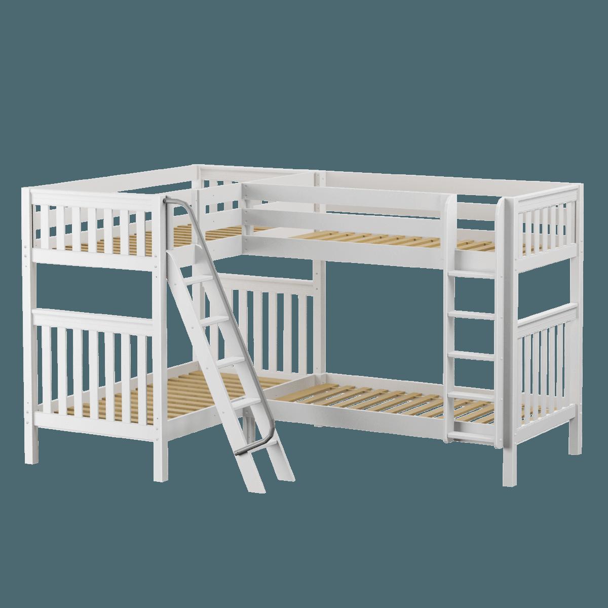 Twin High Corner Bunk Bed Bunk Beds Corner Bunk Beds Bunk Beds For Boys Room