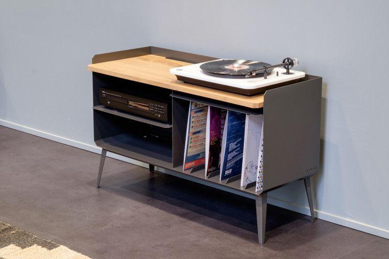 Buffet Vinyle Celestins Fabrique A La Main Par Ox Idee A Shopper Sur Hopfab Com Meuble Vinyle Meuble Dj Meuble Hifi