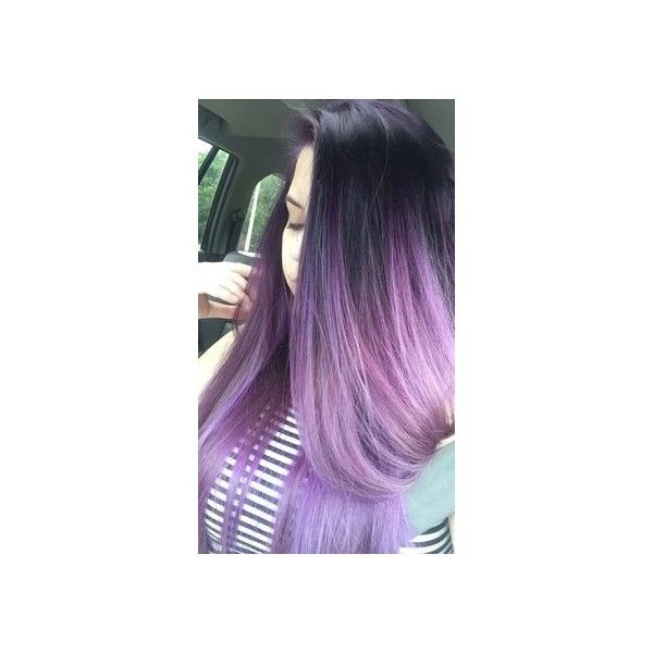 Ombre purple hair ❤ liked on Polyvore featuring beauty products and haircare