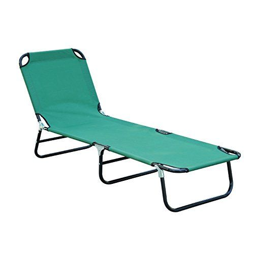Trendy Patio Foldable Chaise Lounge Chair Outdoor Camping Cot Sun Recliner Beach Pool Ready To Keep You Com Lounge Chair Outdoor Camping Cot Beach Lounge Chair