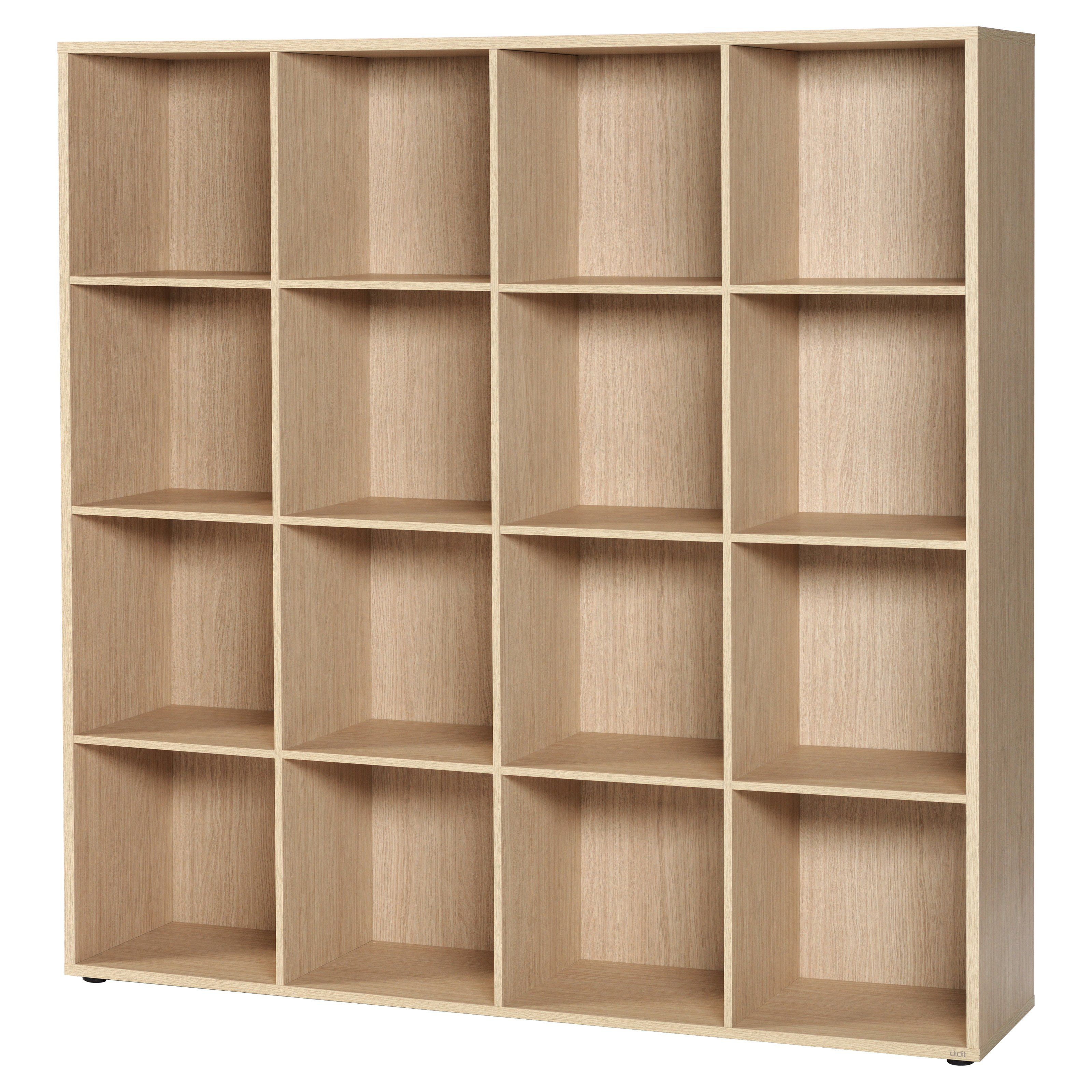 living bassett storage bookcase asp open storeroom library shelving cabinet triple bookcases modular furniture
