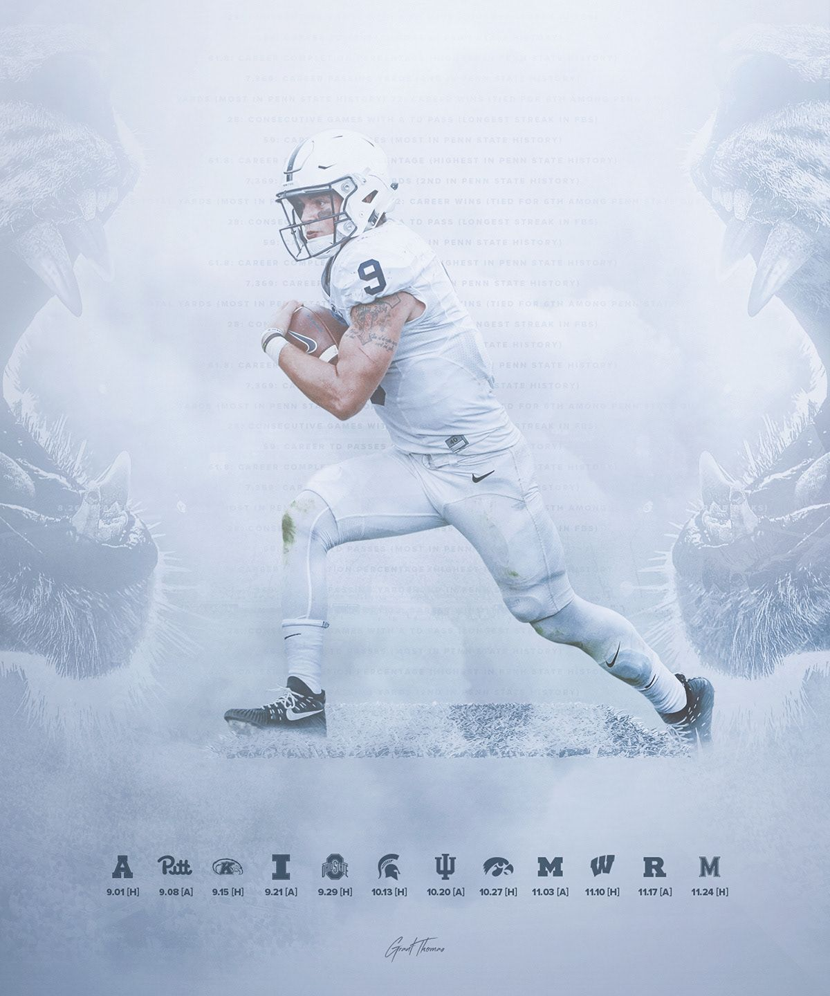 Pin By Lauren Henry On Posters Collage Football Penn State