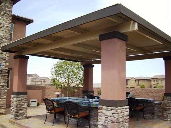 Freestanding Solara Adjustable Patio Cover Completely Closed In Palm  Springs, CA, 92262