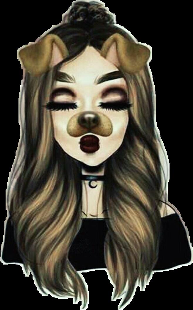 Discover the coolest  dibujo  snapchat  chica  tumblr  perritosnapchat  stickers 0dad12e1f61