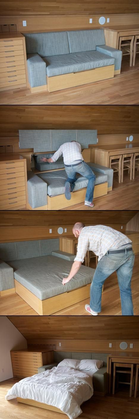 Hide Away Bed. This Would Be Ideal For A Little A Frame Home
