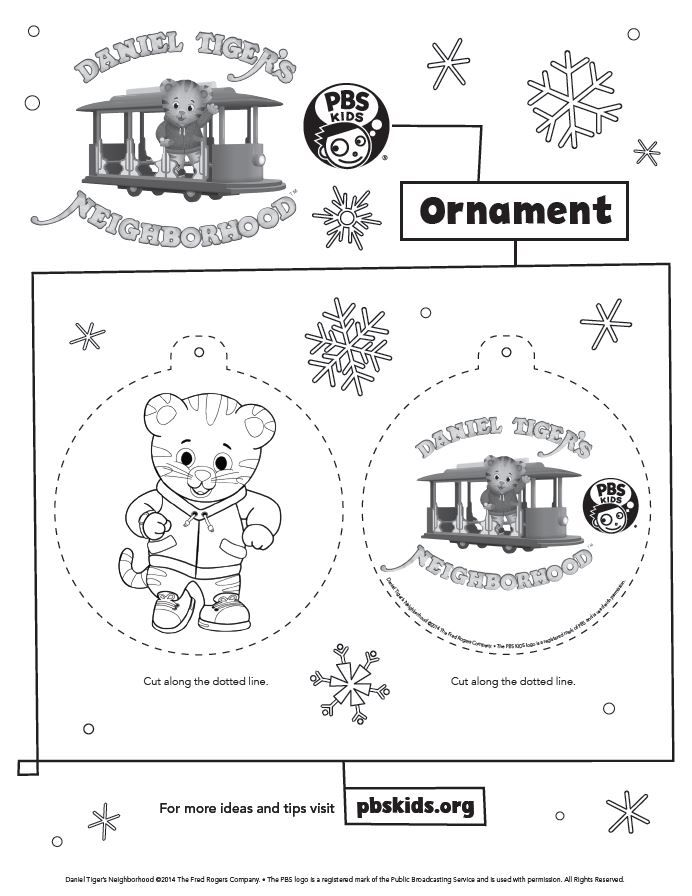 Top Off Your Holiday Decorating With Daniel Tiger Ornaments Holidays
