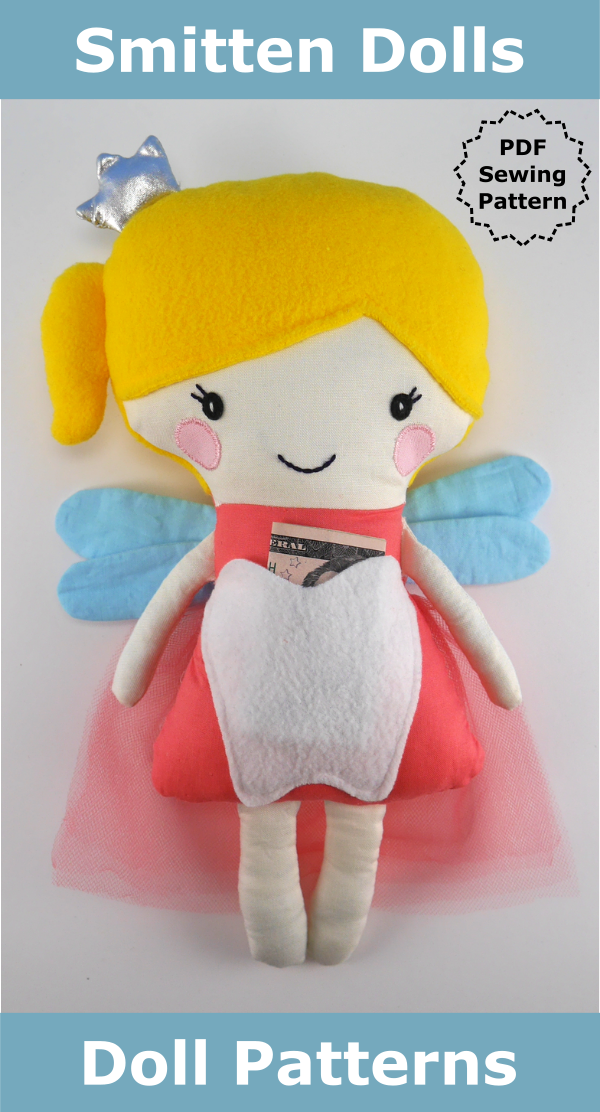 This DIY Tooth Fairy sewing pattern comes with step by step photo tutorial.  It makes an 11.5
