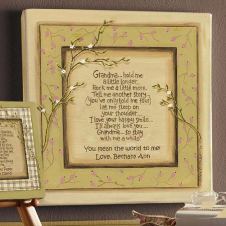 Personalized Grandpa Walk With Me Canvas Wall Decor Beige