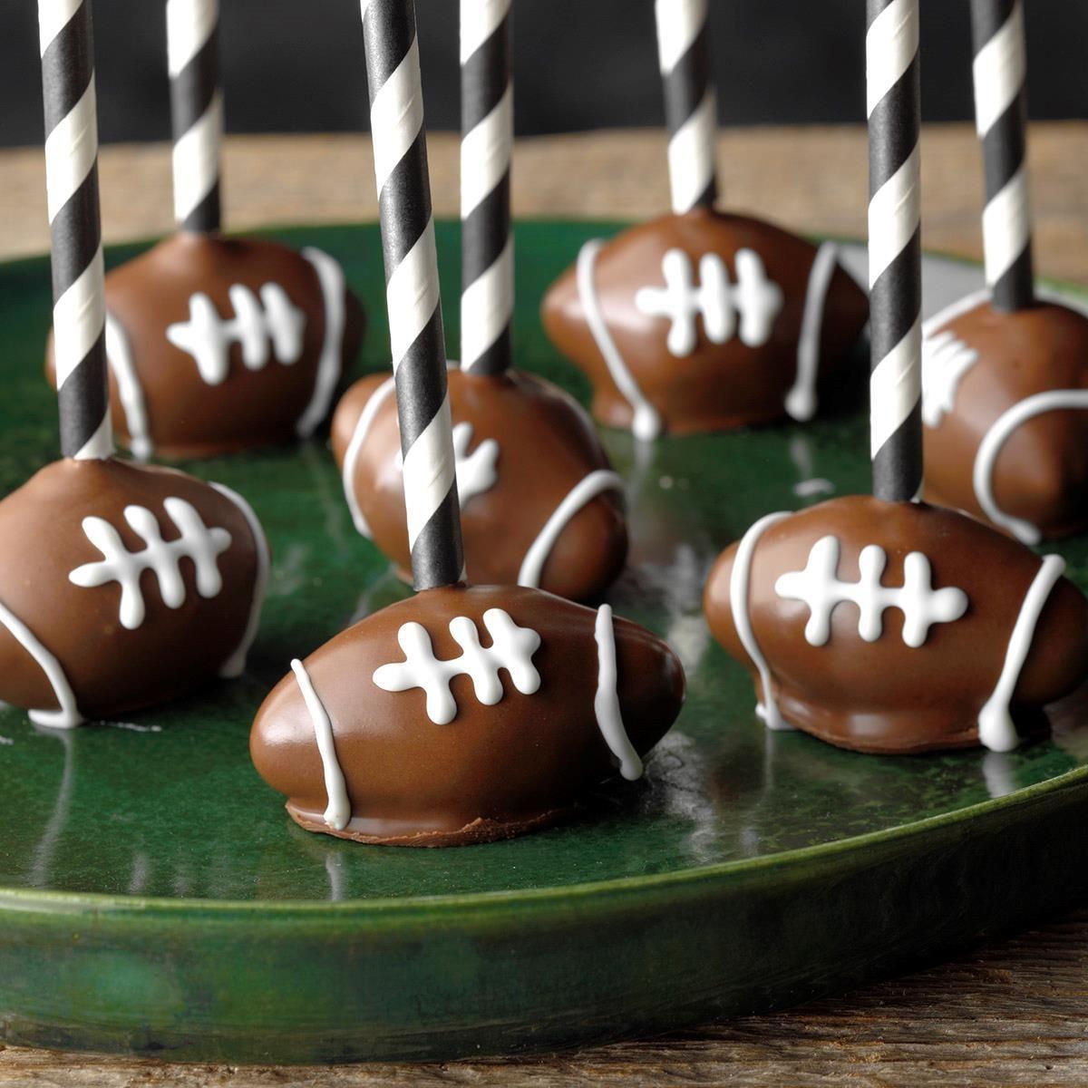 Football cake pops recipe taste of home football cake