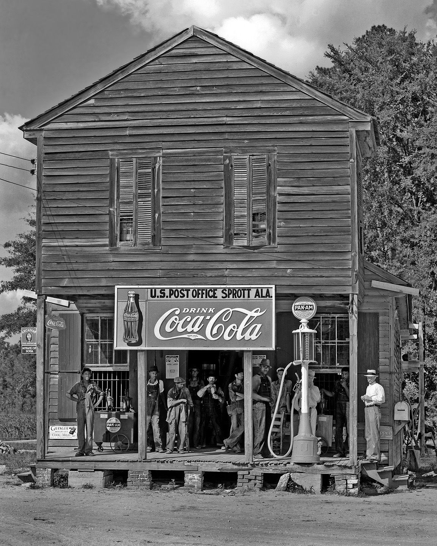 Coca Cola Gas Station Advertising Sign Vintage photo print Sprott Al 1939
