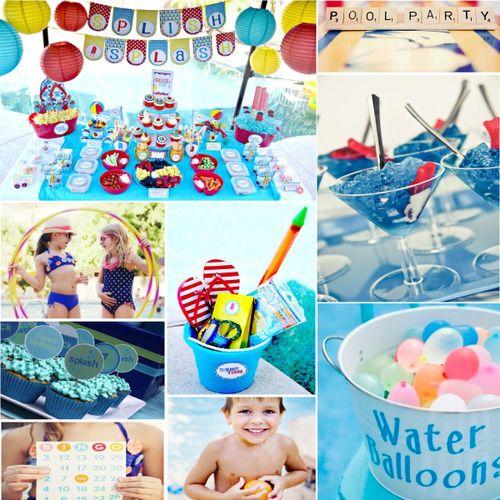 Playa divertida ideas para fiestas motivo piscina y for Ideas para cumpleanos en piscina