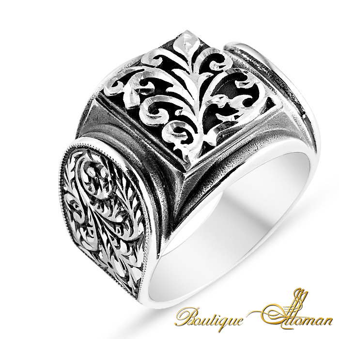 Hand Made Silver Man Ring Silver Rose #jewellery #silver #