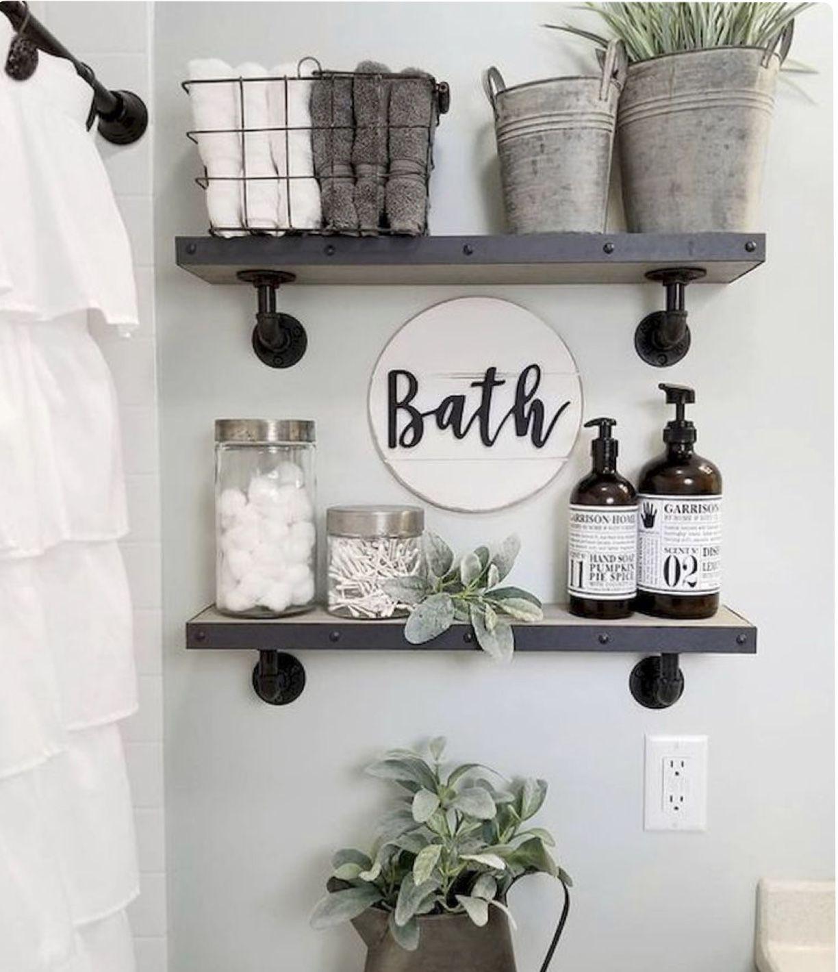Photo of 7.25 Deep Rustic Floating Shelves Bathroom Storage Kitchen   Etsy