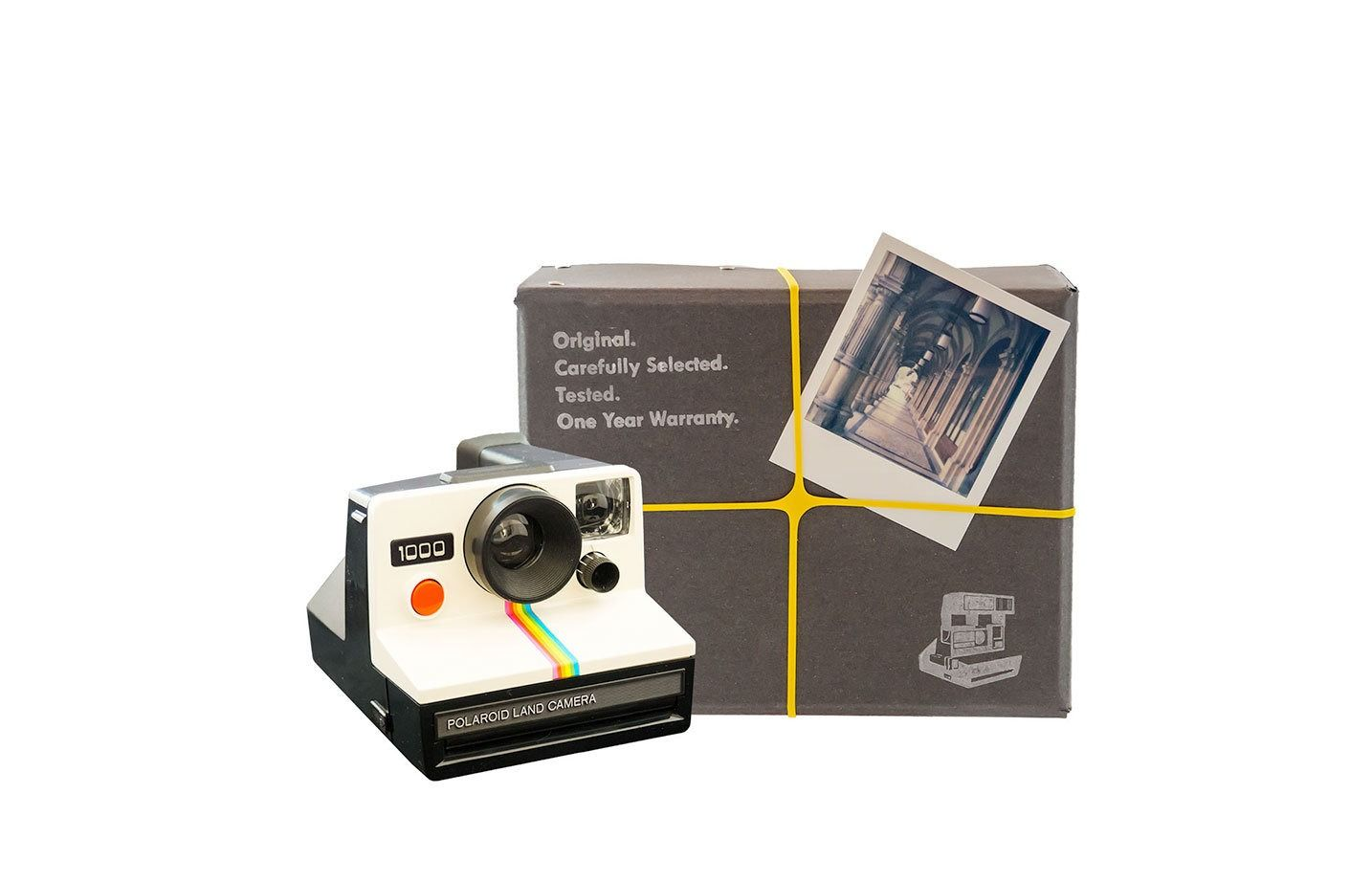 Polaroid Camera Package Vintage Polaroid Onestep Camera Film