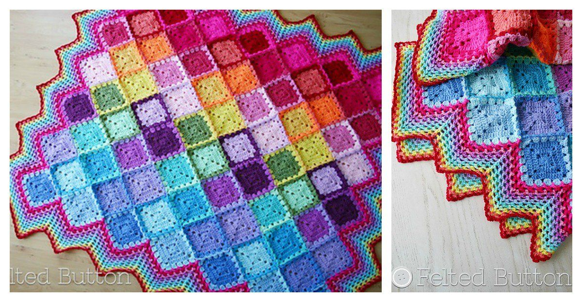 Happy Harlequin Blanket Free Crochet Pattern | Chunky ...