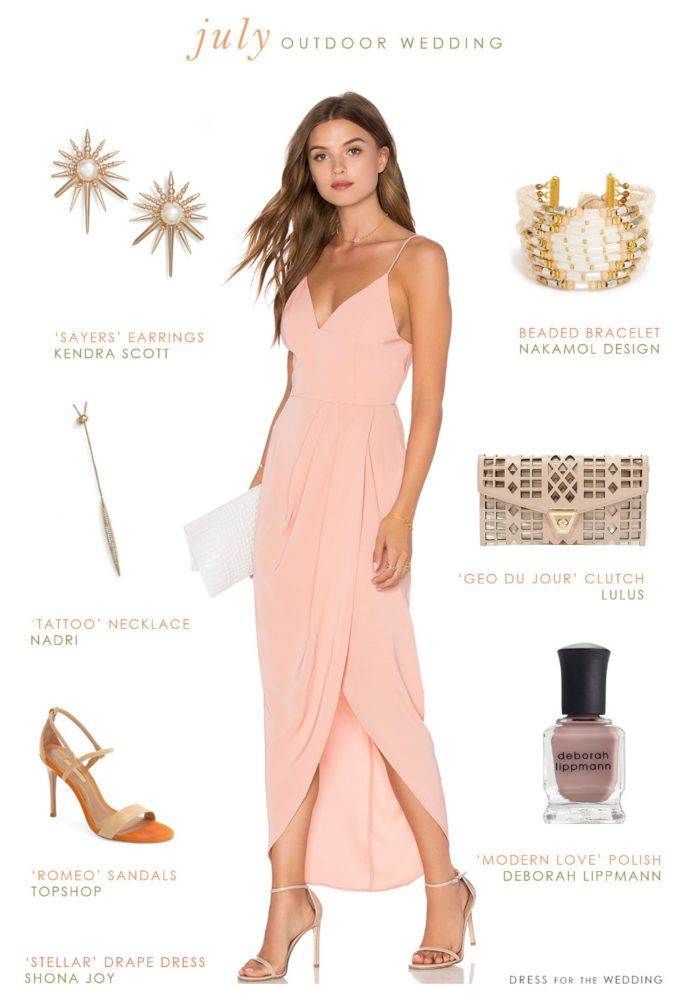 What To Wear An Outdoor July Wedding