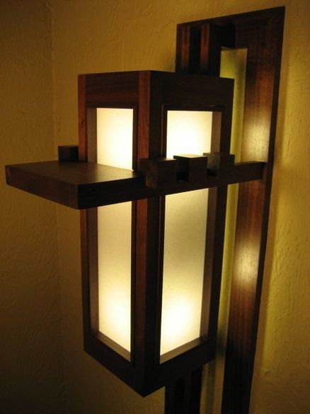 Prairie Style Sconce Frank Lloyd Wright Woodworking