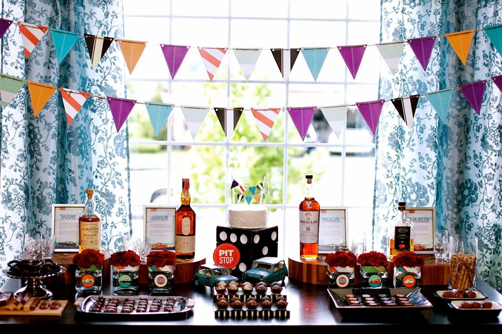 Fiesta para hombres inspirada en el whisky fiesta - Decoracion 50 cumpleanos ...