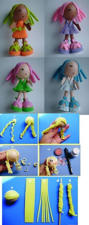 куклы из фоамирана - мастер классы с фото | Авторские ...