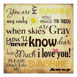 76a5191e6a27efc9261a9973082d8af5 you are my sunshine word art vintage background poster vintage