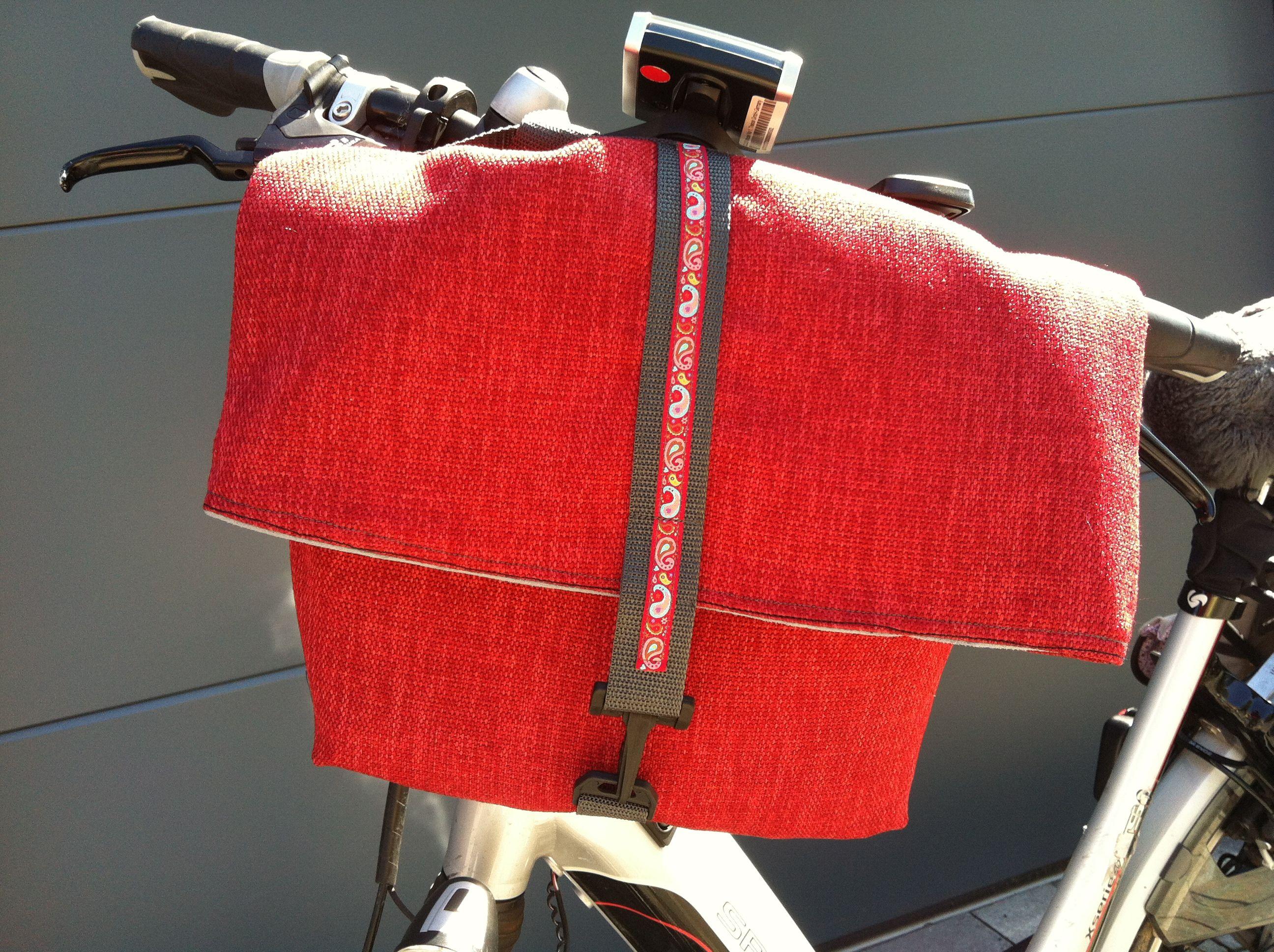 fahrradtasche f r den lenker selbstgemachtes pinterest fahrradtasche n hen und fahrr der. Black Bedroom Furniture Sets. Home Design Ideas