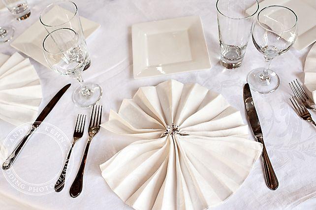 Cute table setting, ring napkin holder