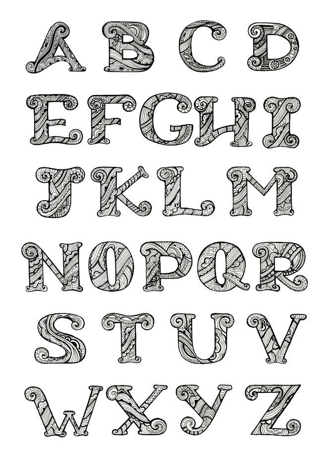 Letters Alphabets Jaclyn Le Lettering Writing Styles