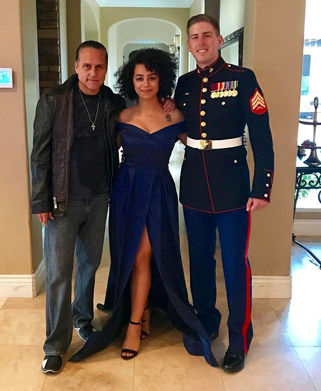 72dd0e766af Thank you for your service. My beautiful daughter Heather and her boyfriend  Phil going to the annual marine ball