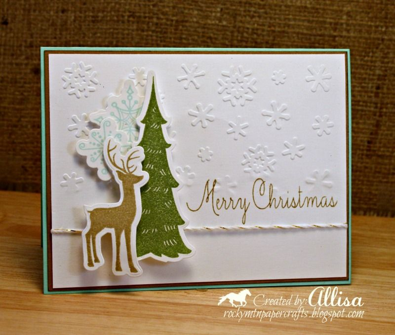 Rocky Mountain Paper Crafts Woodland Wishes by Close To My Heart - christmas card layout