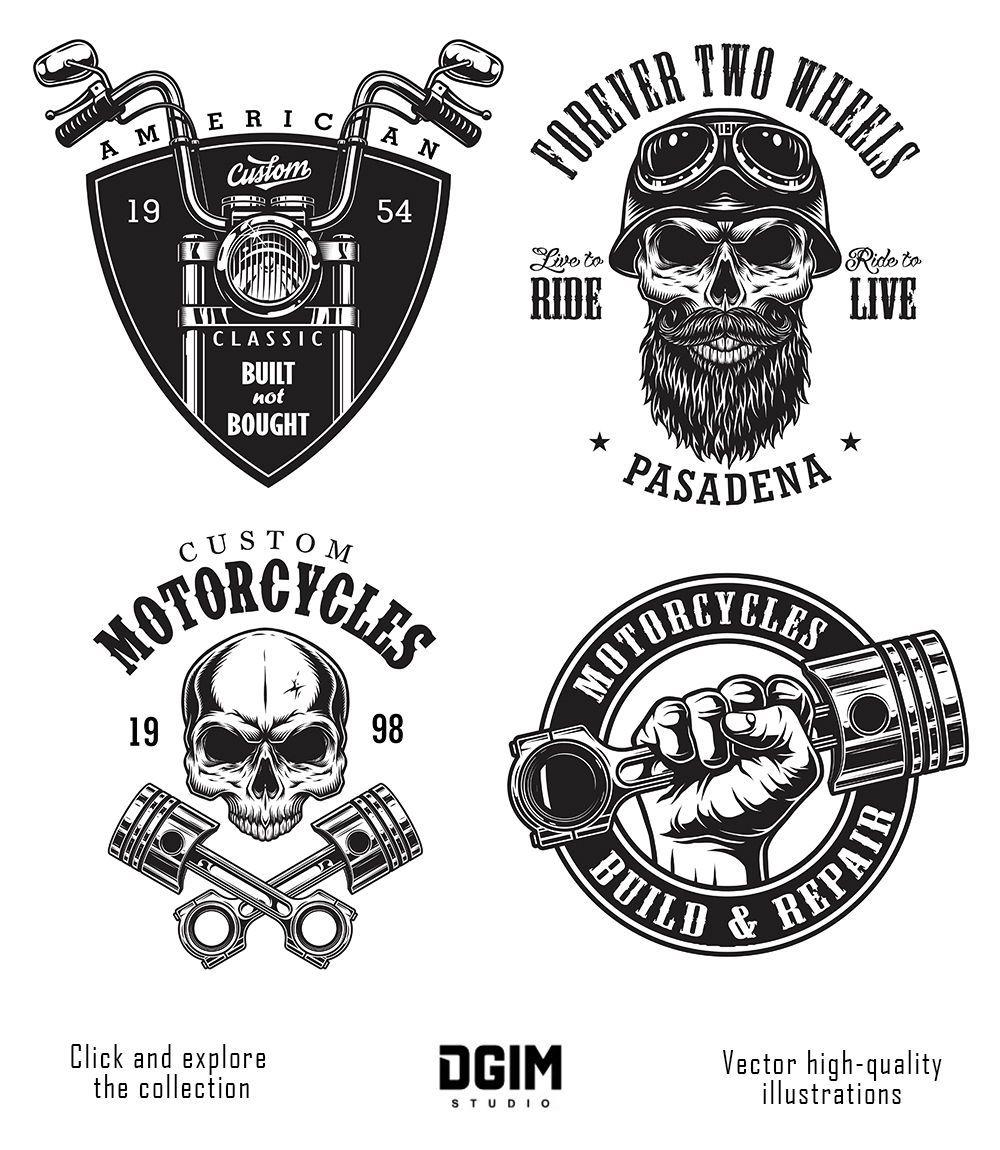 Motorcycle Bundle Motorcycles Logo Design Motorcycle Logo Biker Logo