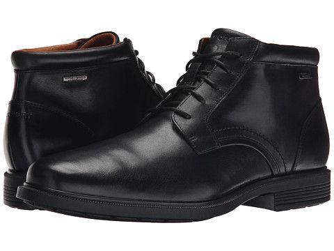 rockport dressports luxe waterproof chukka  mens leather