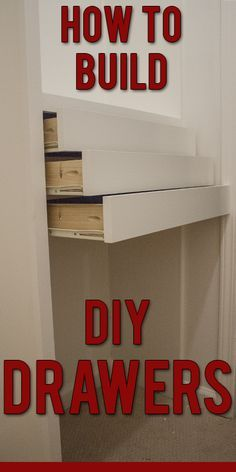 Step By Instructions To Build Diy Wooden Drawers For Installation In A Custom Closet