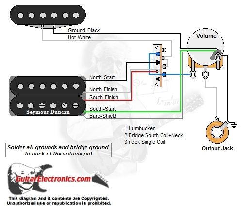 1 Humbucker 1 Single Coil 3 Way Lever Switch 1 Volume 01 Coil Guitar Single