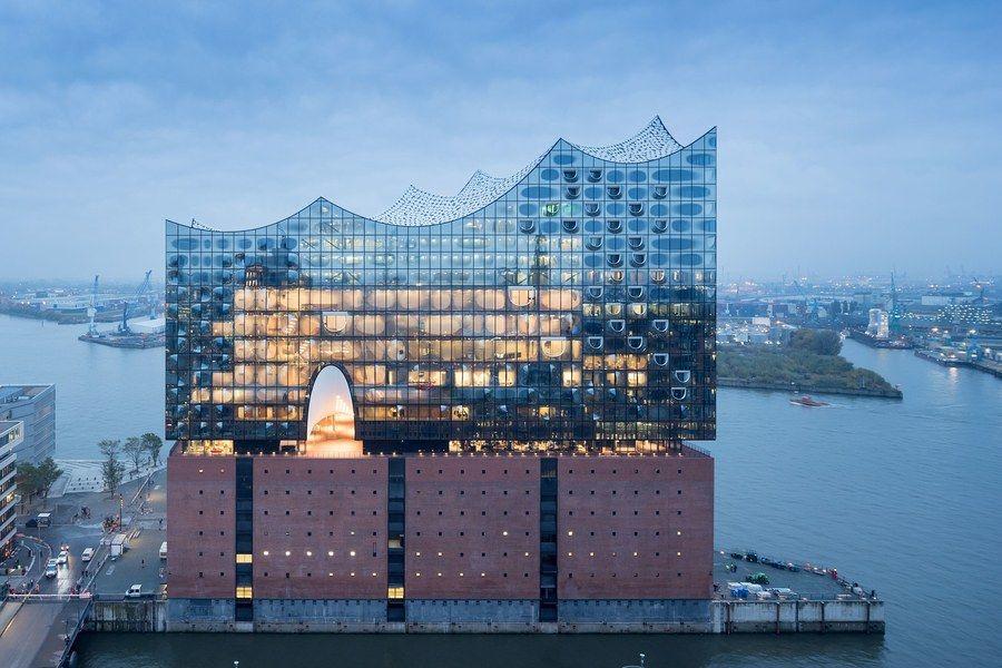 Herzog De Meuron Elbphilharmonie Opera House In Hamburg Architectural Digest Concert Hall Elbphilharmonie Concert Hall Building