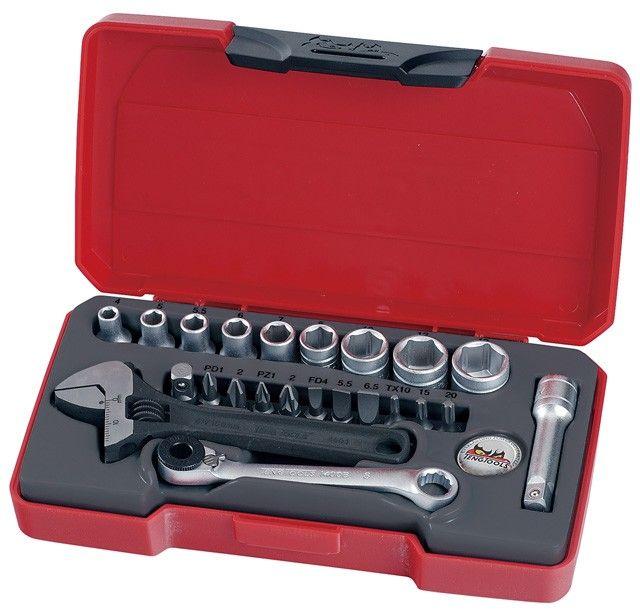 "Teng Tools 23 Piece 1/4"" Wrench Socket & Bit Set"