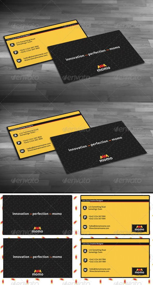 Momo Business Cards Business Cards Momo Corporate Identity