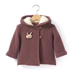 Hooded Cardigan with Button Fastening