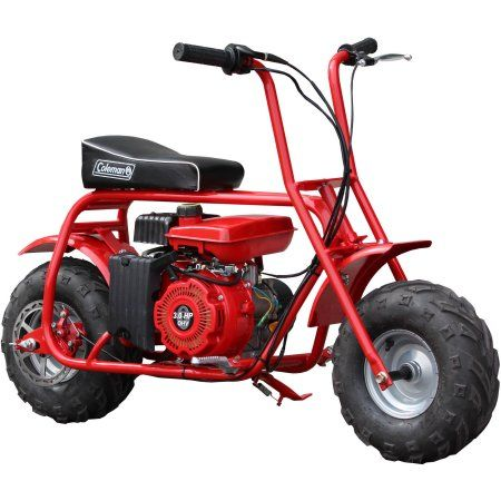 Coleman Trail 100cc Mini Bike Red Mini Bike Gas Powered Mini Bike Mini Motorbike