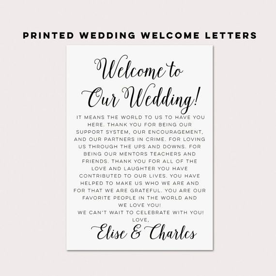 Wedding Welcome Bag Kit Wedding Welcome Box Labels