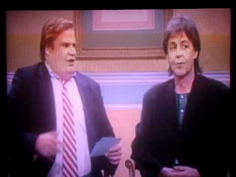 snl 39 the chris farley show 39 with paul mccartney 3 30 just the best few minutes so funny and. Black Bedroom Furniture Sets. Home Design Ideas