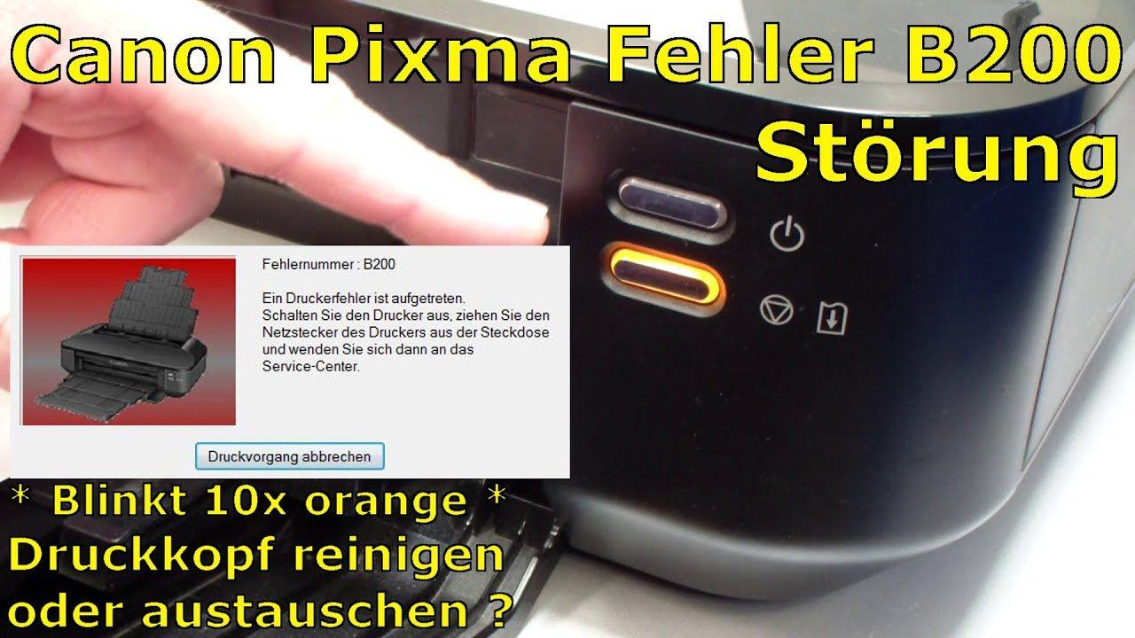 Canon Pixma B200 Error Fehler Beheben Fix English Subtitles Con Imagenes Tecnologia